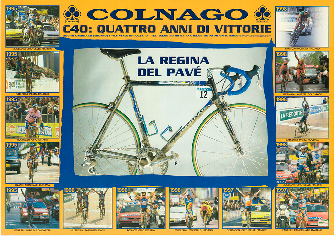 Colnago C40 Racers Original Vintage Bicycle Poster
