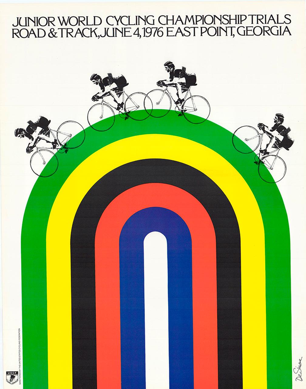 Junior Cycling Trials 1976 Original Vintage Bicycle Poster