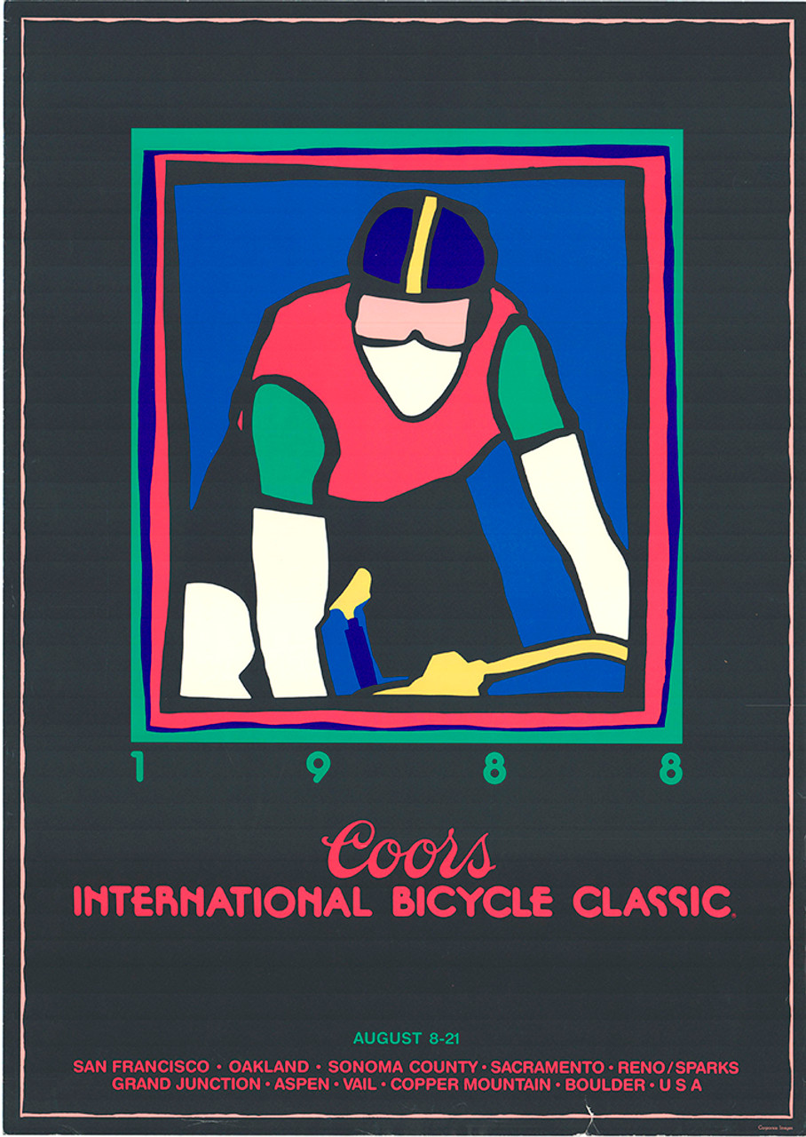 1988 Coors Classic Original Vintage Bicycle Poster