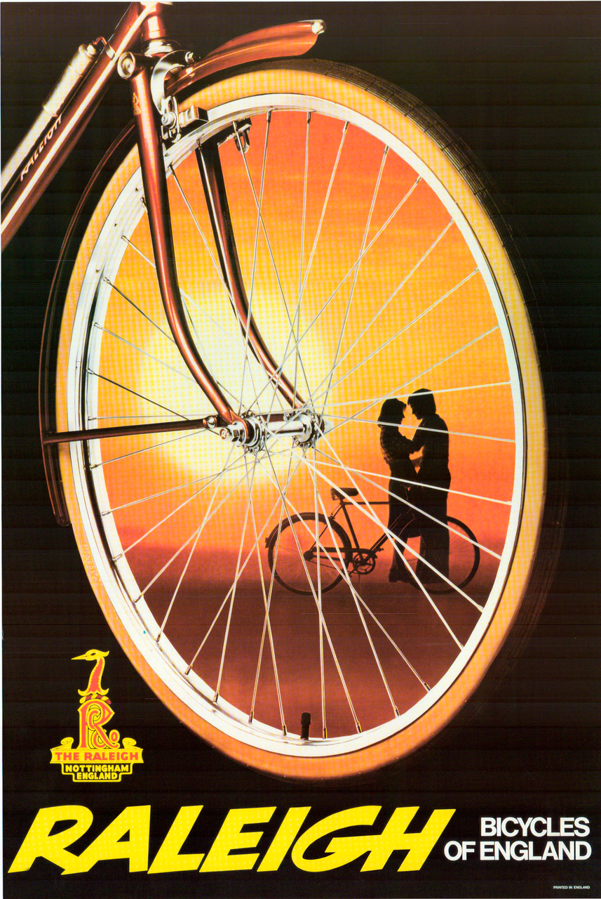 "Raleigh ""The Kiss"" Original Vintage Bicycle Poster"