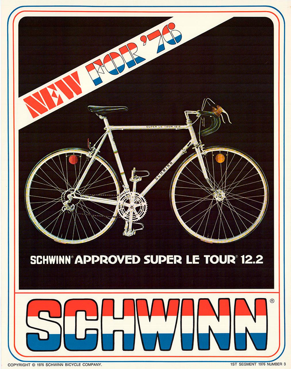 Schwinn Super Le Tour Original Vintage Bicycle Poster