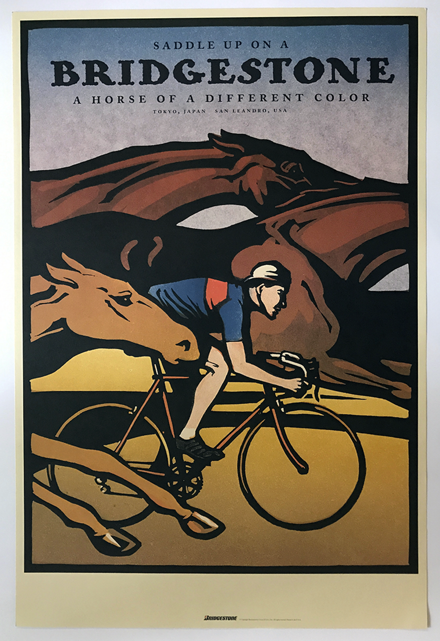 Bridgestone - Saddle Up Original Poster by Christopher Wormell