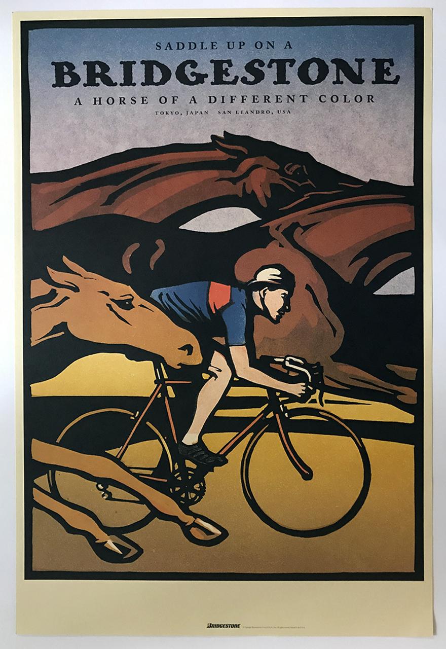 Bridgestone - Saddle Up Original Poster by Christopher Wormell