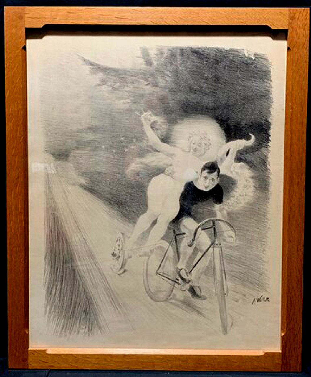 Bicycle Dreams Original Vintage  Bicycle Poster by A. Willet