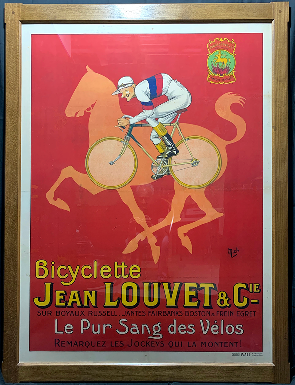 Jean Louvet Original Vintage  Bicycle Poster by Mich