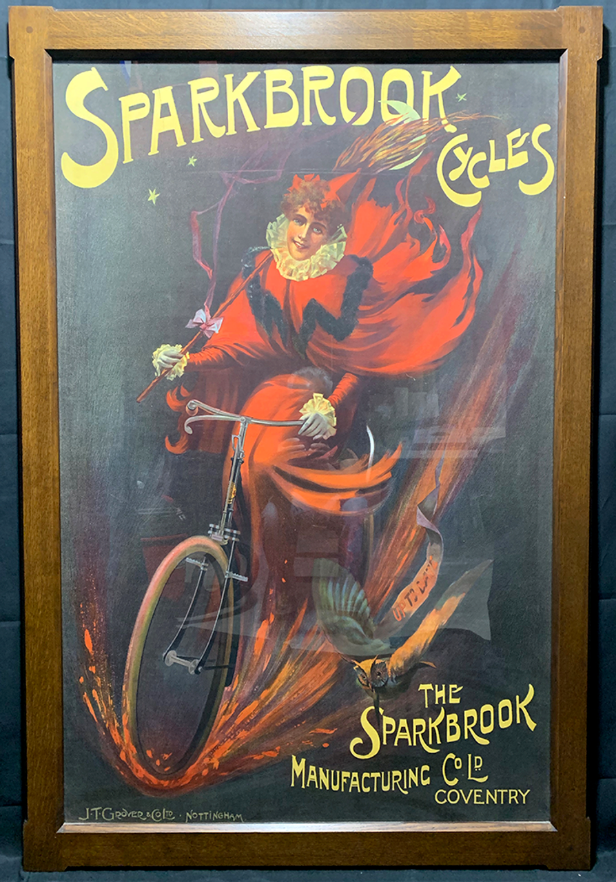 Sparkbrook Cycles Original Vintage  Bicycle Poster