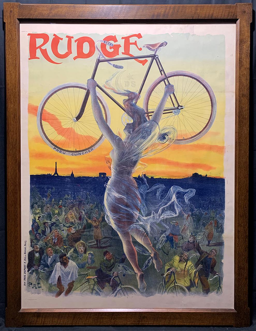 Rudge Original Vintage  Bicycle Poster by PAL