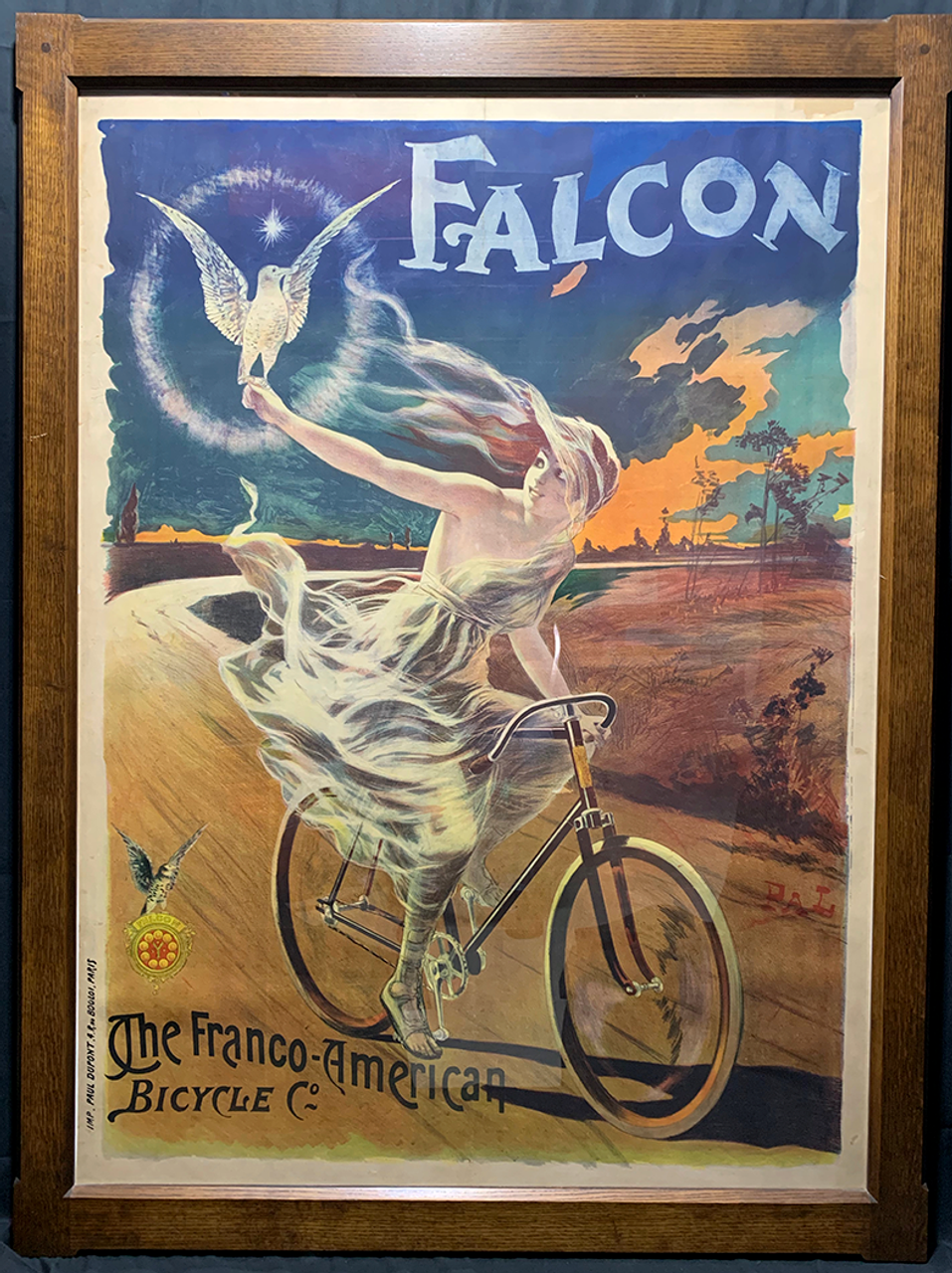 Falcon Original Vintage  Bicycle Poster by PAL