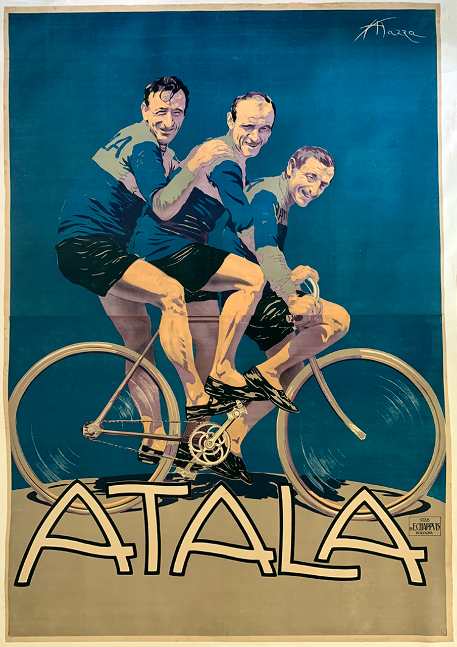 Atala Original Vintage  Bicycle Poster by Mazza