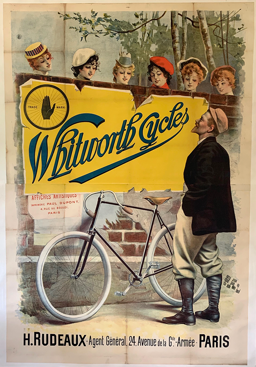Whitworth Cycles Original Vintage Bicycle Poster