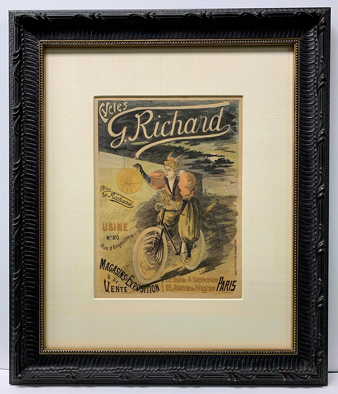 Cycles G. Richard advertisement - Le Rire Magazine - July 24, 1895
