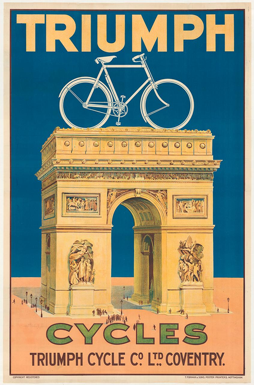 Triumph Cycles Original Vintage Bicycle Poster