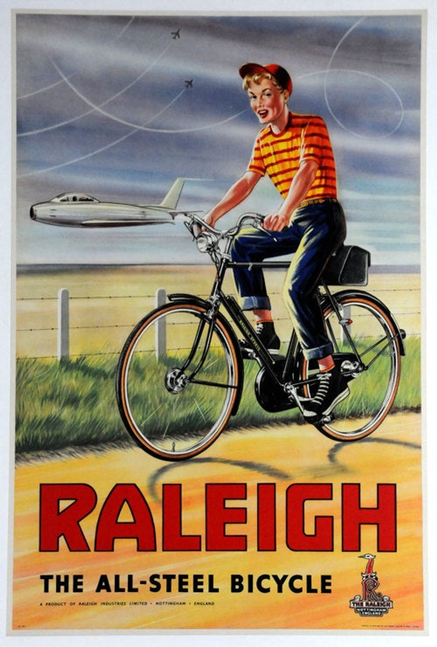 Raleigh - The All Steel Bicycle Original Vintage Bicycle Poster