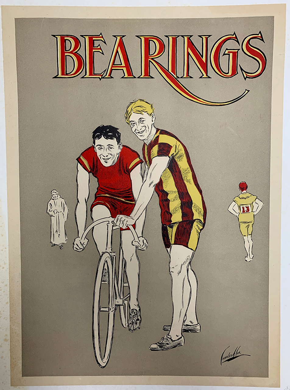 Bearings Original Vintage Bicycle Poster by Charles Cox