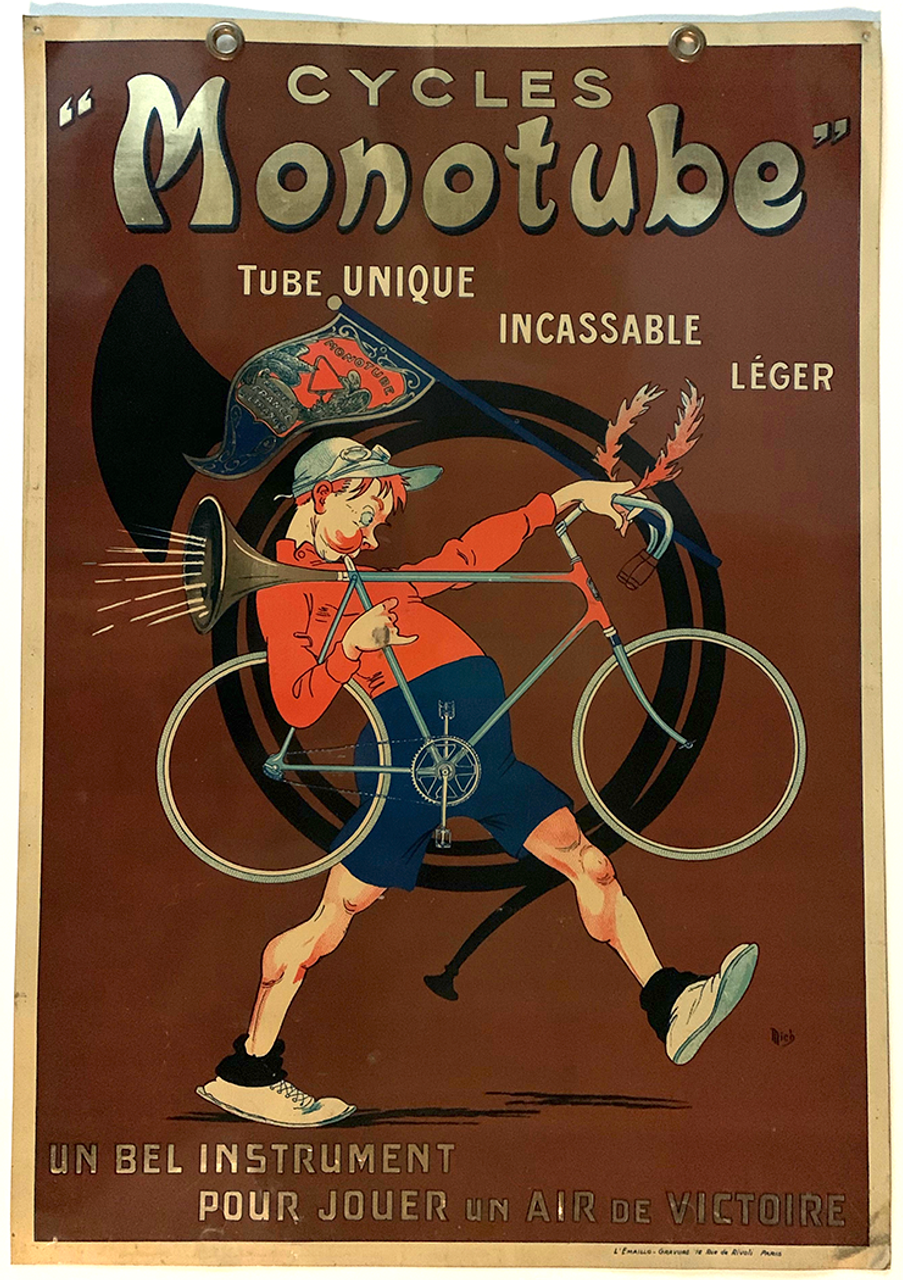 Cycles Monotube Original Vintage Tin Sign by Mich - side 1