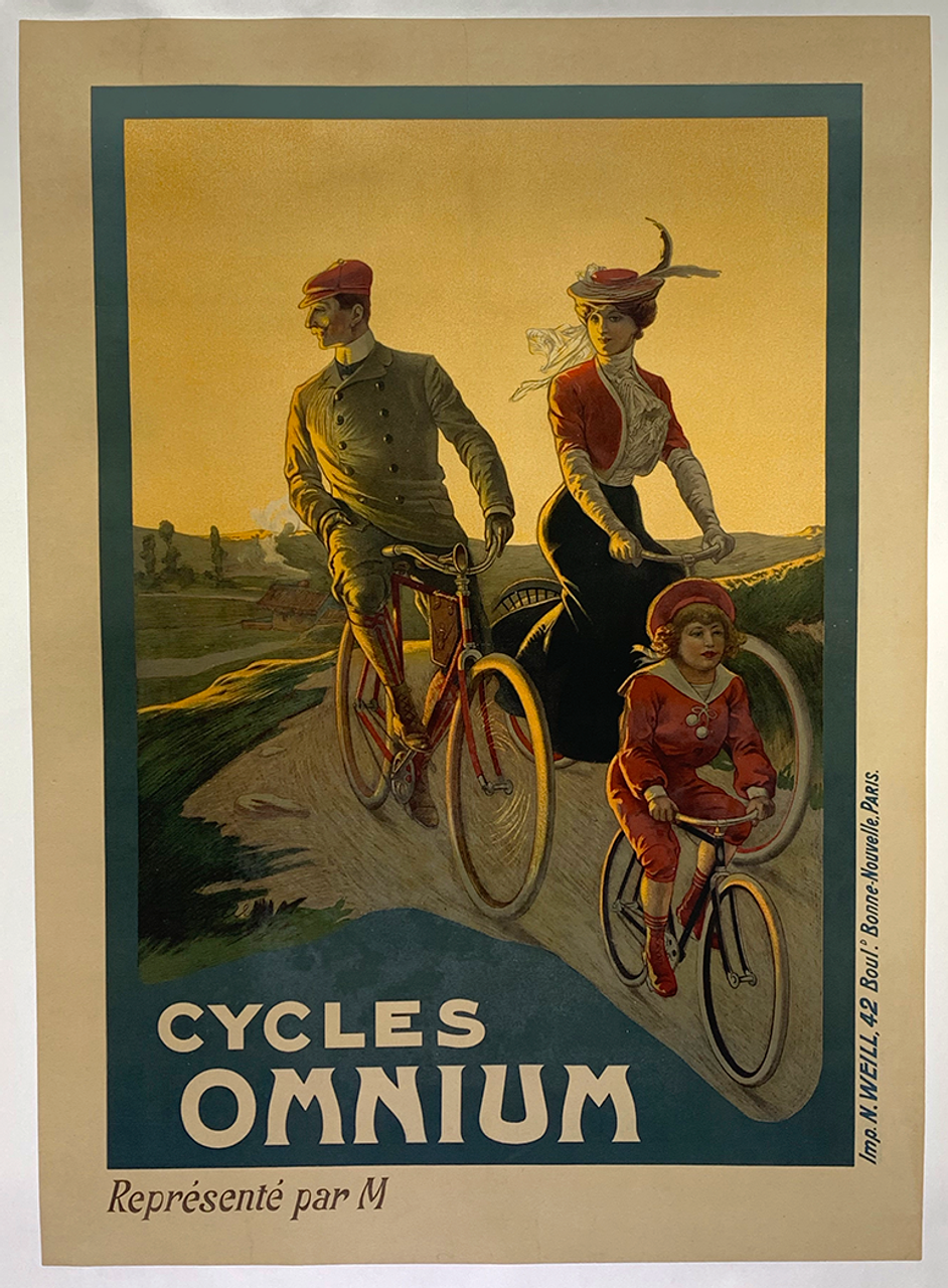 Cycles Omnium  Original Vintage Bicycle Poster