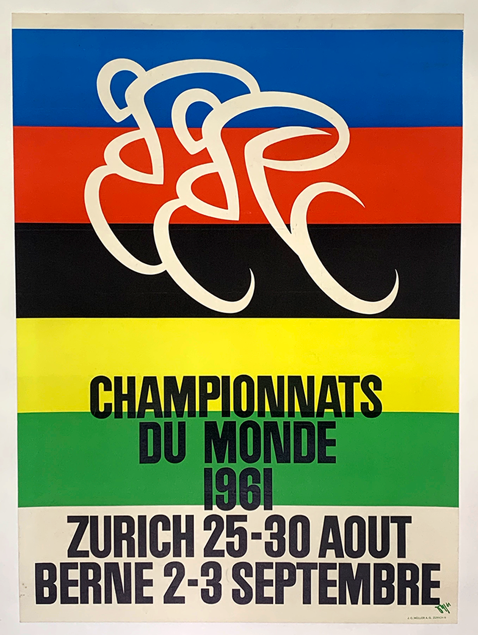 1961 World Championships Original Vintage Bicycle Poster
