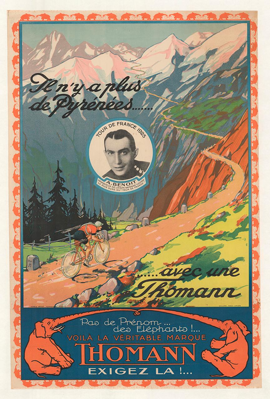 Thomann Original Vintage Tour de France Bicycle Poster
