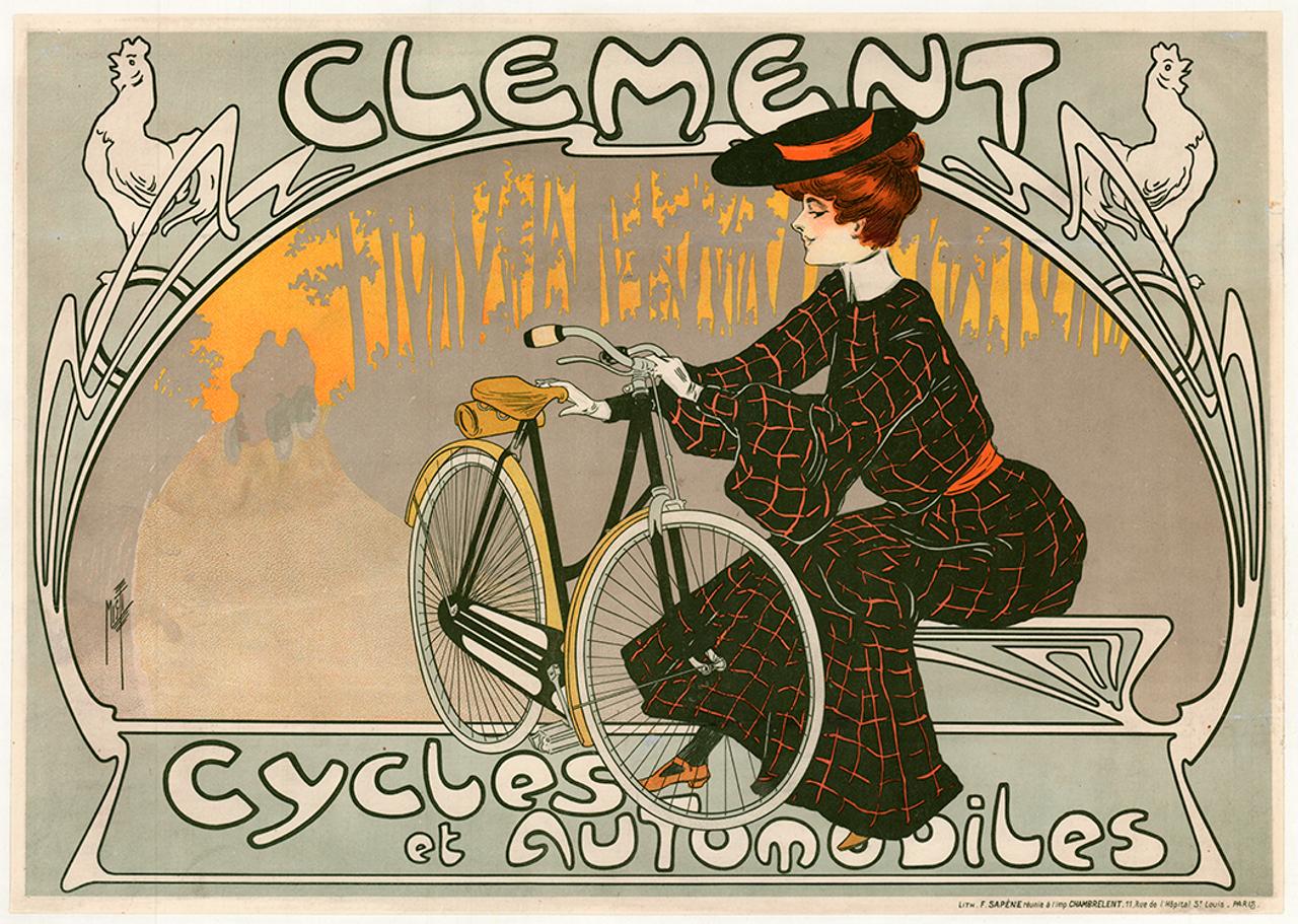 Clement Cycles et Automobiles Original Vintage Bicycle Poster by Misti