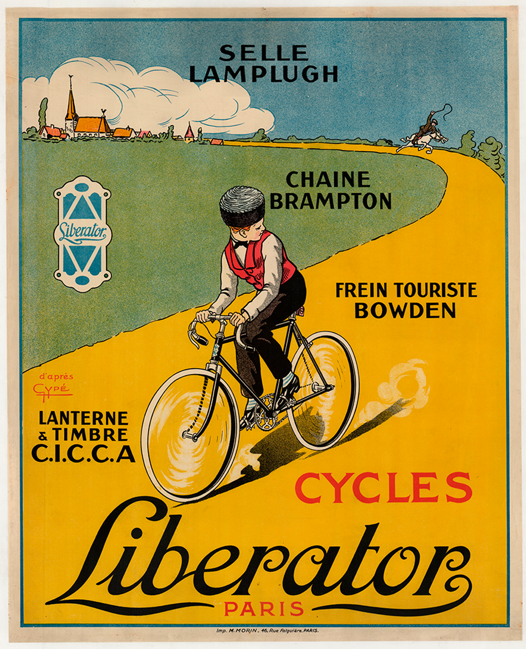 Cycles Liberator Original Vintage Bicycle Poster by Gype