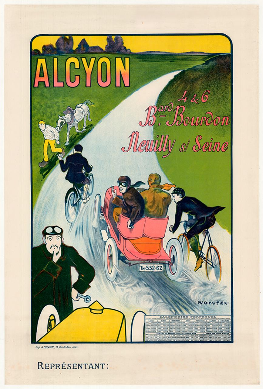 Alcyon Original Vintage Bicycle Poster by Gautier