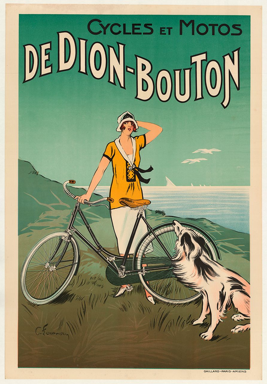 Cycles et Motos De Dion-Bouton Original Vintage Bicycle Poster by Fournery