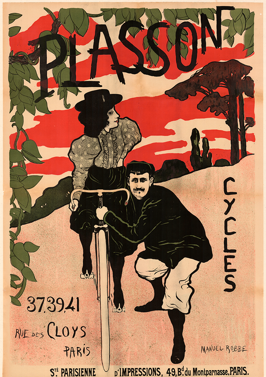 Plasson Cycles Poster by Manuel Robbe