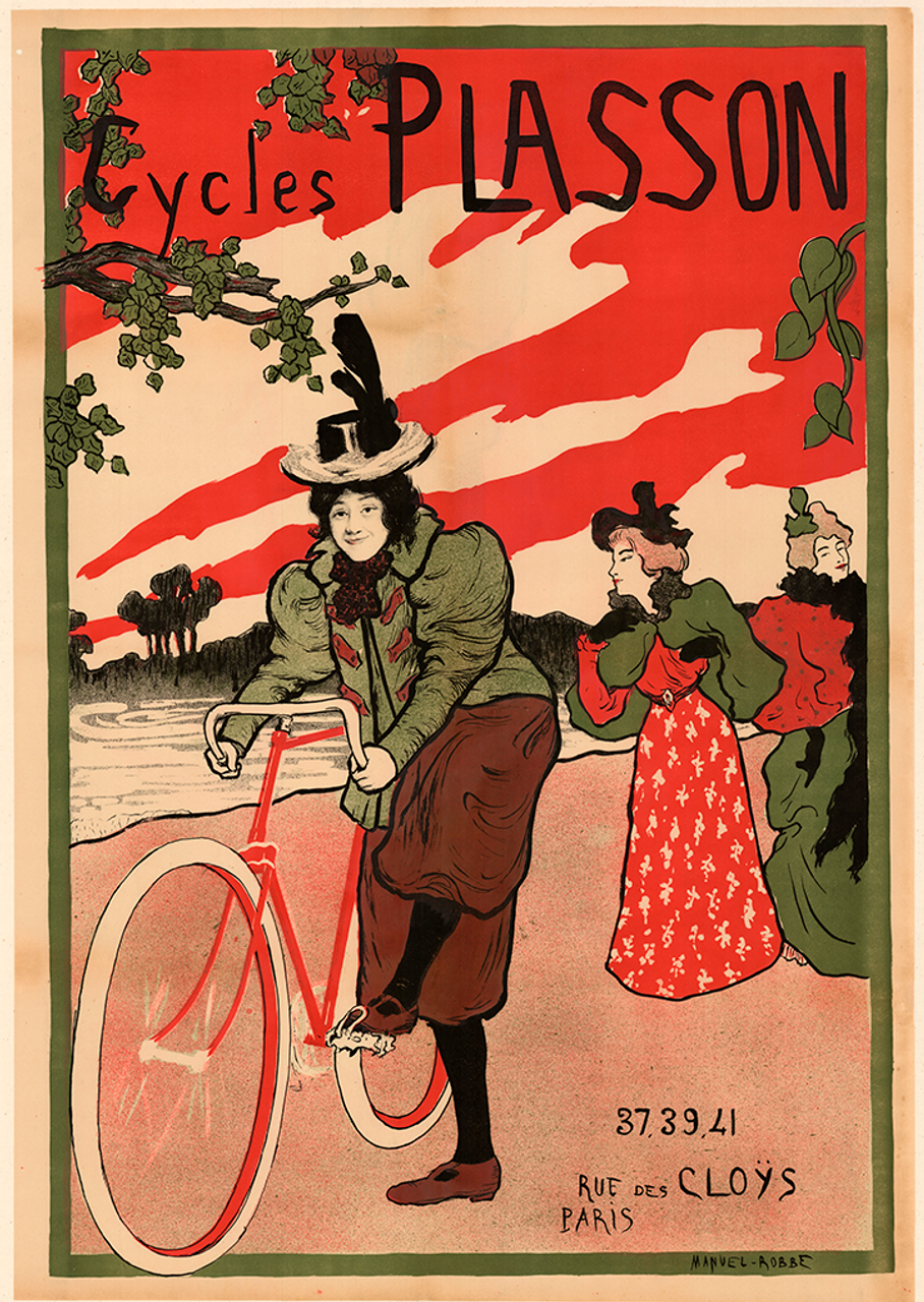 Cycles Plasson Poster by Manuel Robbe