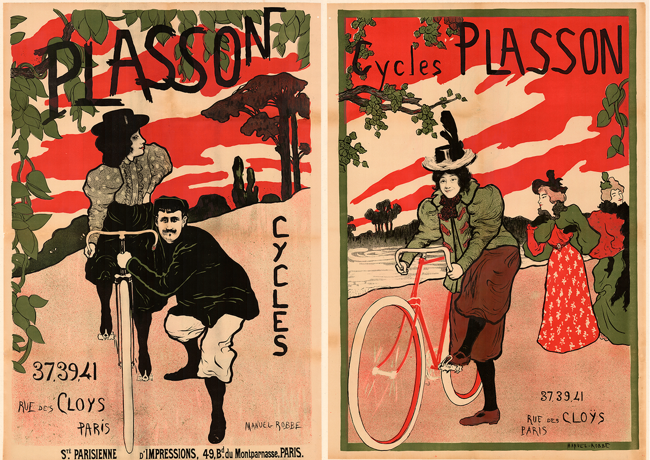 Two posters for Plasson Cycles by Manuel Robbe