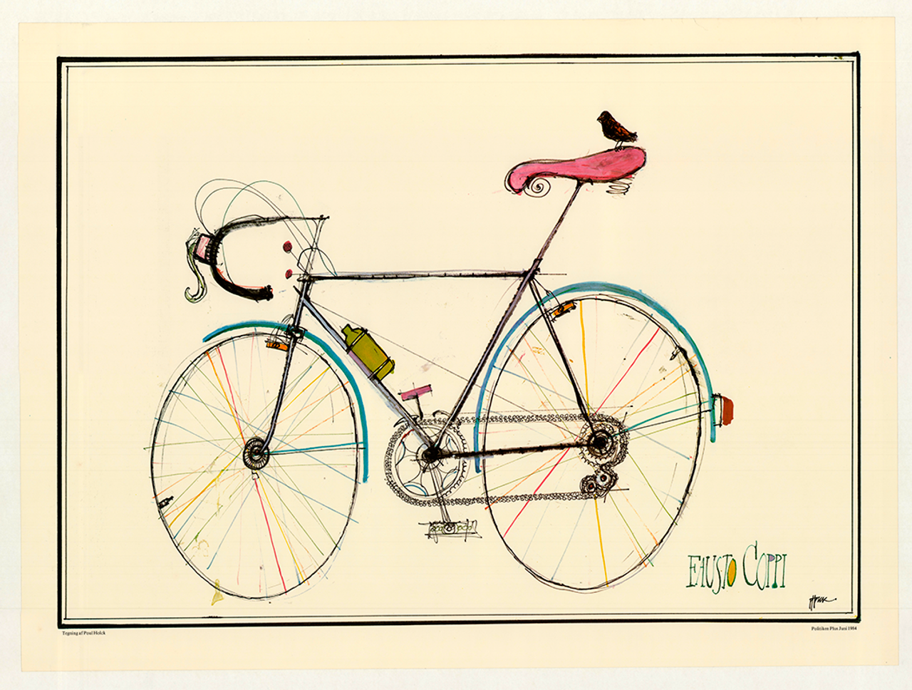 Fausto Coppi Bicycle by Paul Holck