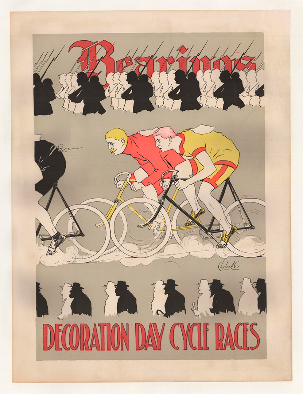 Bearings Decoration Day Races Original Vintage Bicycle Poster by Charles Cox
