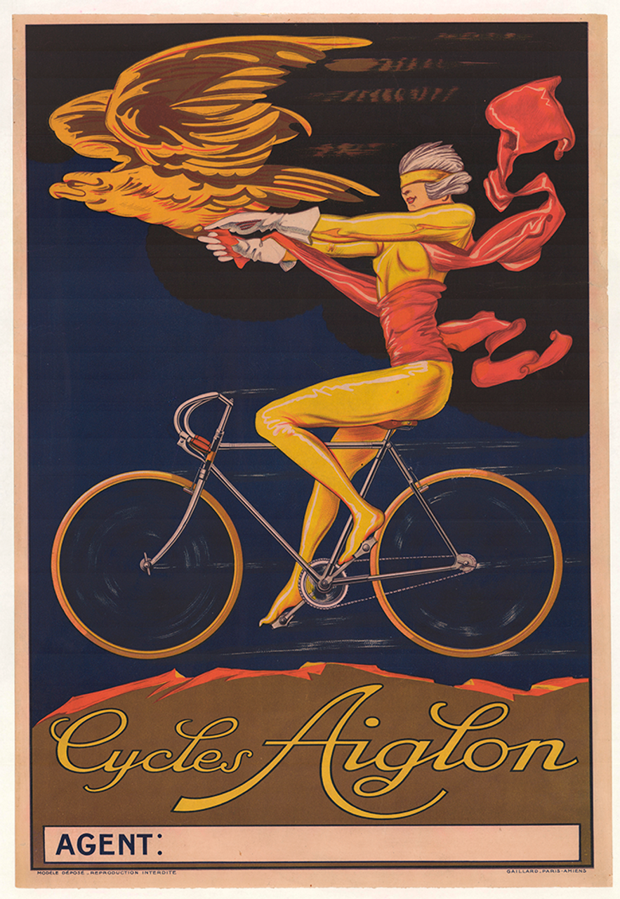 Cycles Aiglon Original Vintage  Bicycle Poster