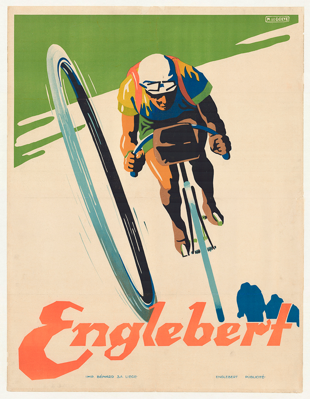 Englebert Original Vintage  Bicycle Poster