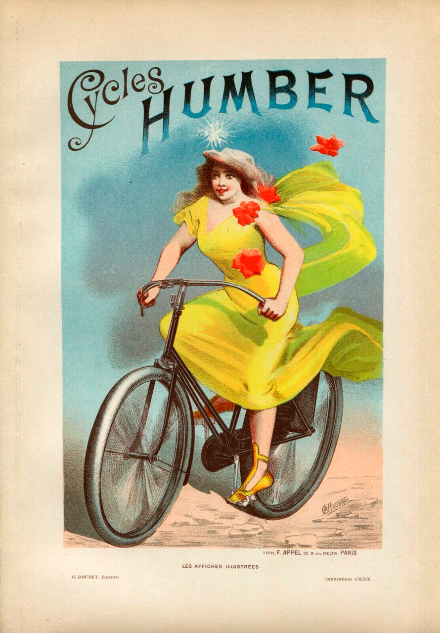1896 Les Affiches Illustrees Page - Cycles Humber