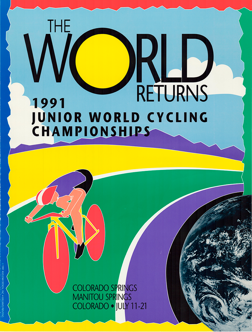 1991 World Junior Cycling  Championships, Colorado Springs Original Vintage Bicycle Poster