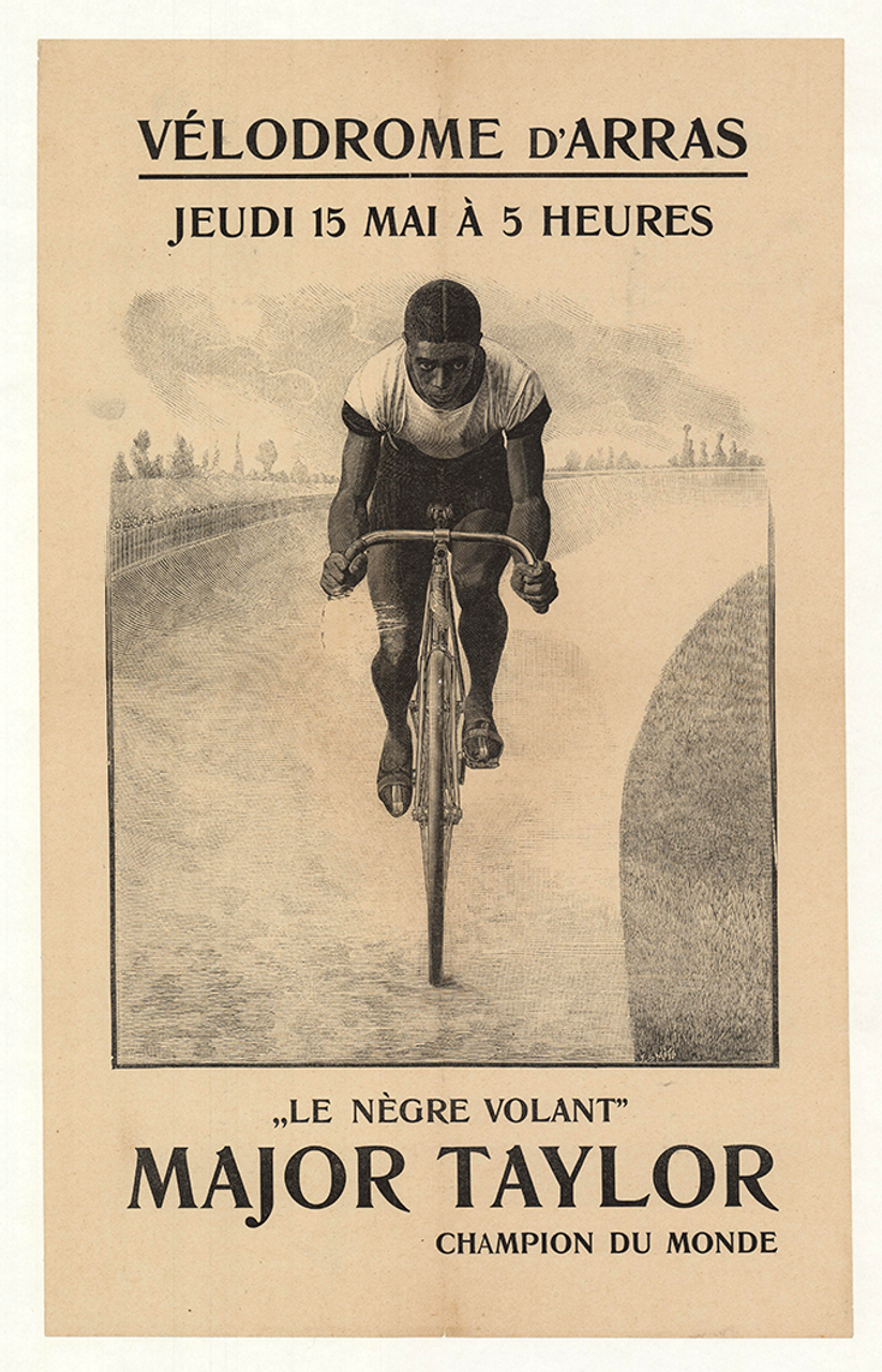 Major Taylor 1902 Original Vintage Bicycle Poster