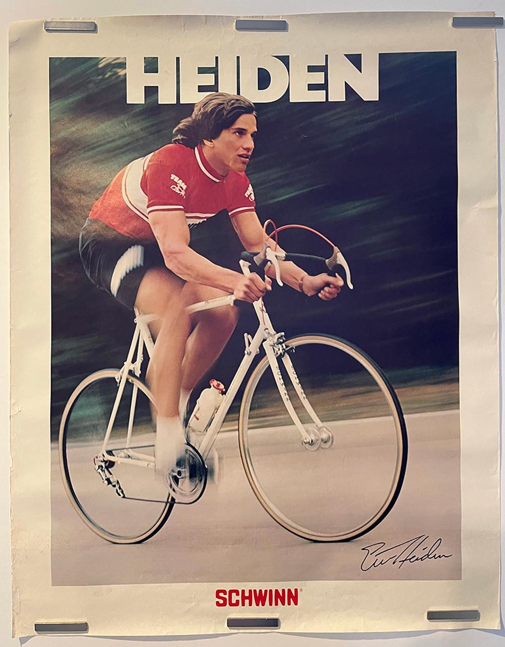 Eric Heiden riding a Schwinn Paramont with Campy Super record