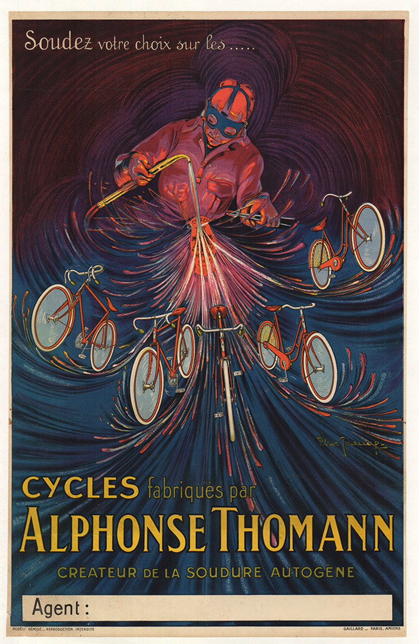 Cycles Alphonse Thomann Original Vintage Bicycle Poster