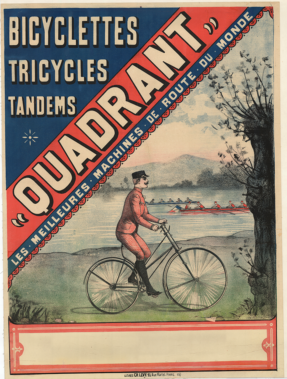 Bicyclettes Quadrant Original Vintage Bicycle Poster