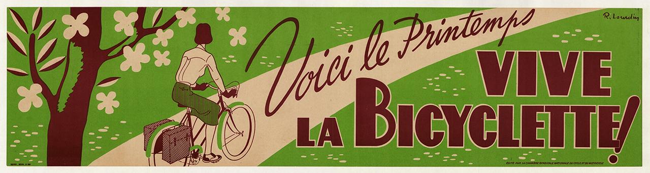 Vive La Bicyclette Original Vintage Bicycle Poster