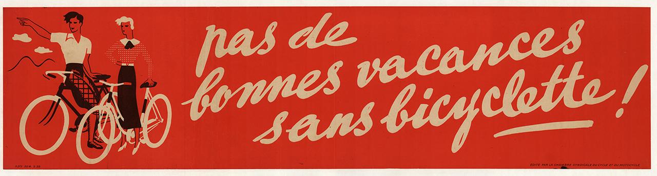 Pas de Bonnes Vacances Original Vintage Bicycle Poster