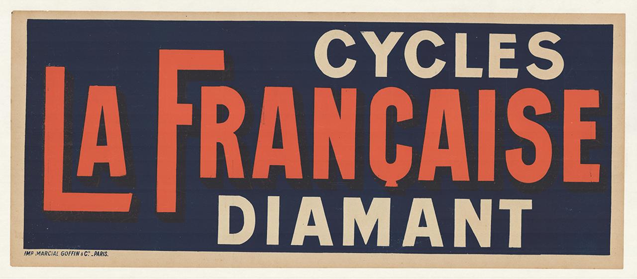 Cycles La Franchise Diamant Original Vintage Bicycle Poster