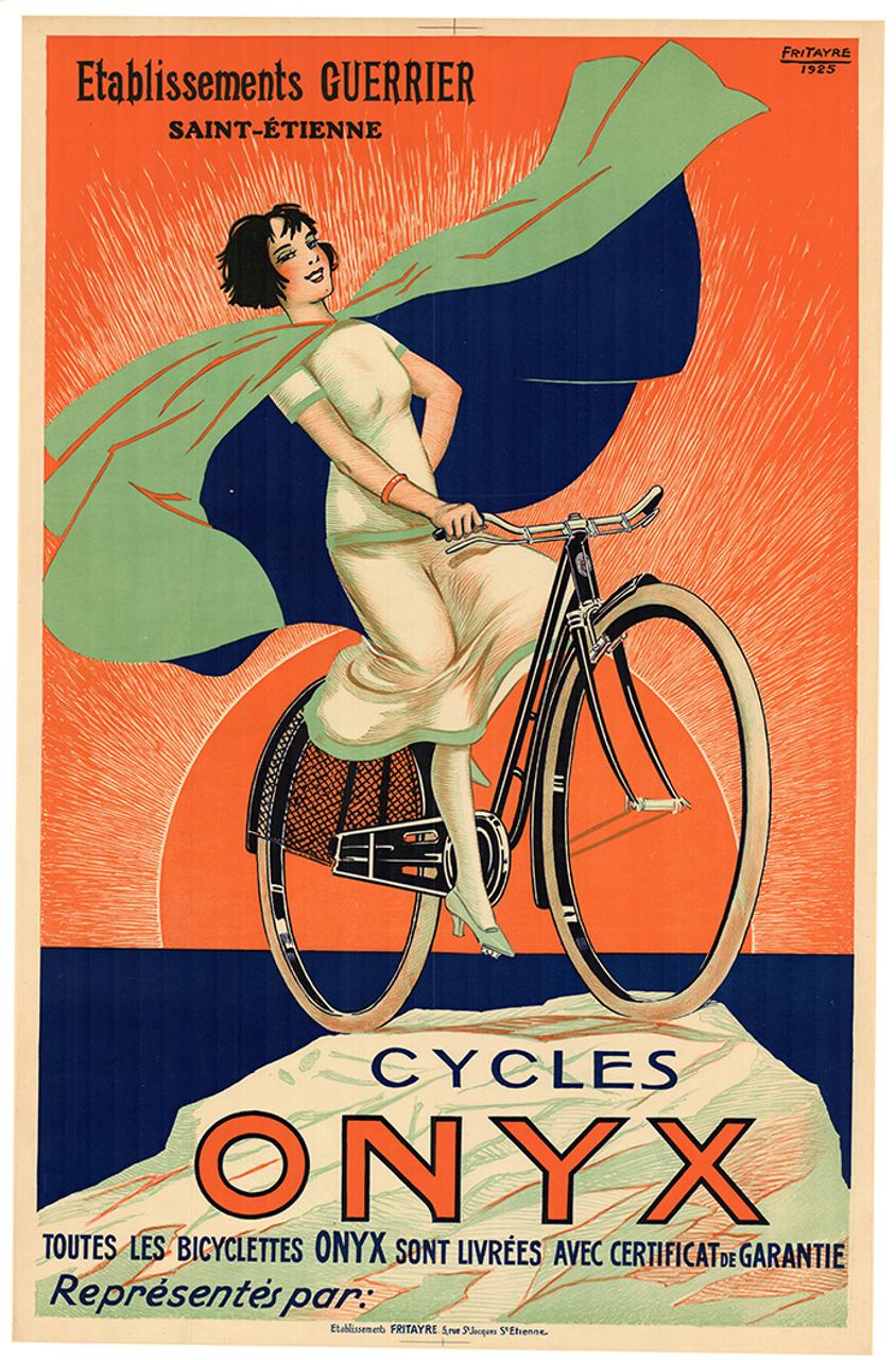 Cycles Onyx Original Vintage  Bicycle Poster by Fritayre