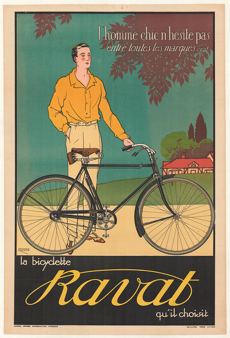 Vintage Poster Adler Bicycle VCP106 Art Print Poster A4 A3 A2 A1