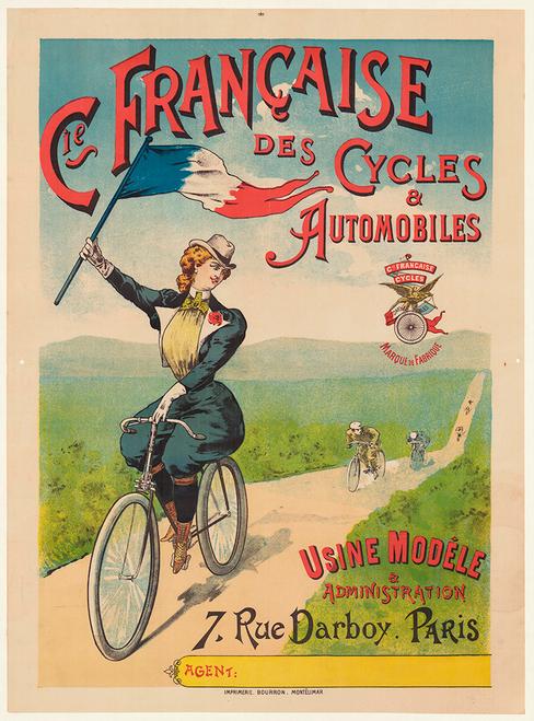 Cycles-TnomedThe cow-boyLyon Vintage PosterA1 A3 A2