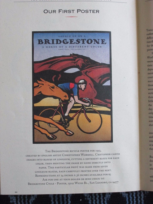 Bridgestone - Saddle Up Original Poster - Catalog listing FOR REFERENCE ONLY