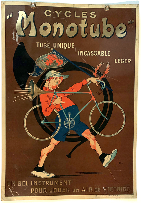 Cycles Monotube Original Vintage Tin Sign by Mich - side 2