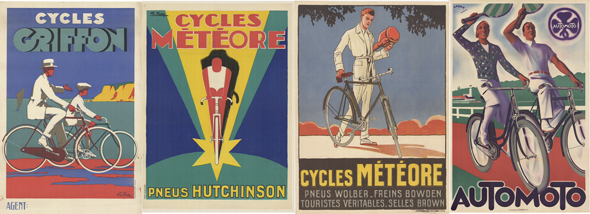 Original Vintage Art Deco Bicycle Posters