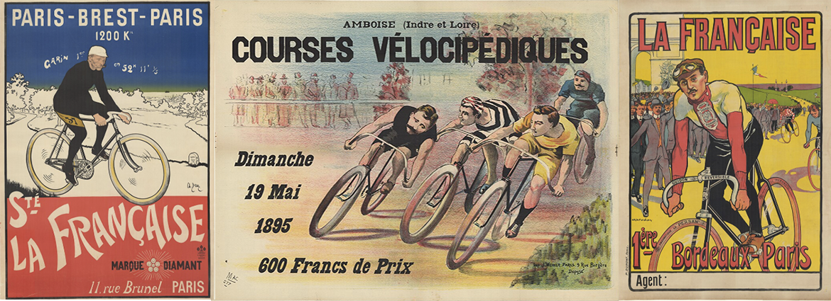 Famous racers and bicycle races posters