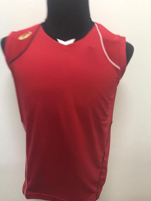 ASICS Blade Sleeveless Shirt (Red)